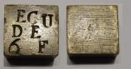 Münzgewicht Écu de 6F, Frankreich, nach 1800.