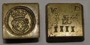 Münzgewicht ital. Pistole, Frankreich, Lyon, um 1700.
