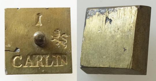 Münzgewicht 1 CARLIN, bergisch. Aeckersberg.