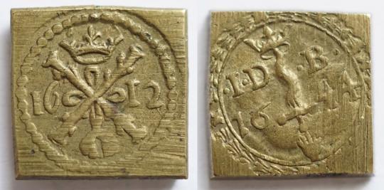 Münzgewicht 1 Albertus, Jacob Jansz de Backer