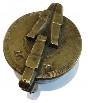 Einsatzgewicht, Bechergewicht, 16 Lot, Nürnberg, frühes 19. Jh., Hahn, Rothenberger