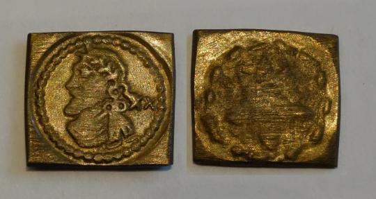 Münzgewicht 1/4 Umbkicker - Laurel - Jacobus neuer - Unite, um 1620, Coppenol