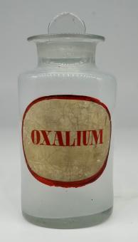 Apotheken-Glasgefäß, deutsch, 19, Jh. Oxalium