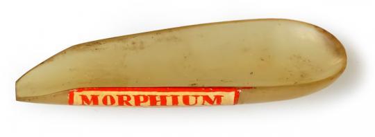 Pulverschiffchen, um 1900, MORPHIUM