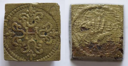 Münzgewicht 1/2 Franc, Willem van Langenberch.
