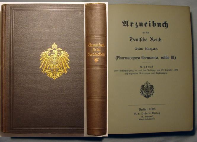 DAB 3 - Pharmacopoea Germanica Editio 3, 1895