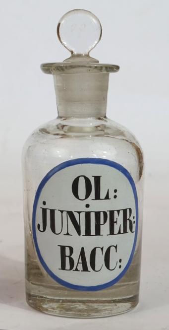 Emailbemalte Äth.-Öl-Flasche, klassizistisch, um 1820